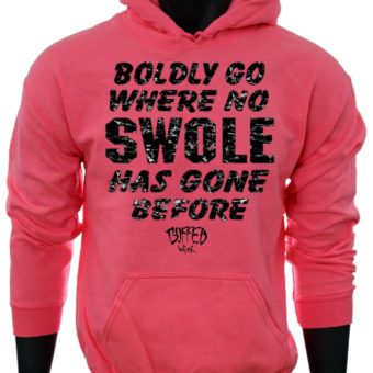 Boldly Go Where No SWOLE Has Gone Before-Pink-Sweatshirt-men