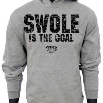 SWOLE Is The Goal-Gray-Sweatshirt-men
